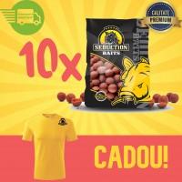 10 Kg Magic Squid Boilies Pack (solubile) + Tricou Cadou