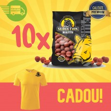 10 Kg Magic Squid Boilies Pack (solubile) + Tricou Cadou