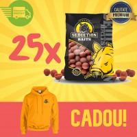 25 Kg Magic Squid Boilies Pack (solubile) + Hanorac Cadou